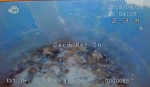 סתימה בצנרת ביוב בעומק 2.3 מטר אורך