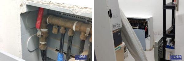 בבדיקת המרכזיה נמצאה הדליפה במחבר צינור המספק מים לדוד