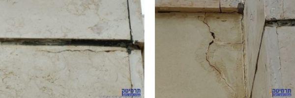 מראה הכשל במבנה מרפסת שמש תלויה