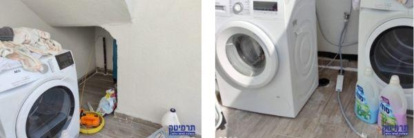 בבדיקה שחברת תרמיטק ערכה במקום, נמצא כשל במערכת מים דלוחין של מכונת הכביסה שנמצאת במרפסת המדוברת.